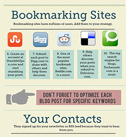 Bookmarking Sites Are One of 30 Ways to Promote Your Blogpost