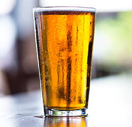 A glass of beer. Is it local or global?