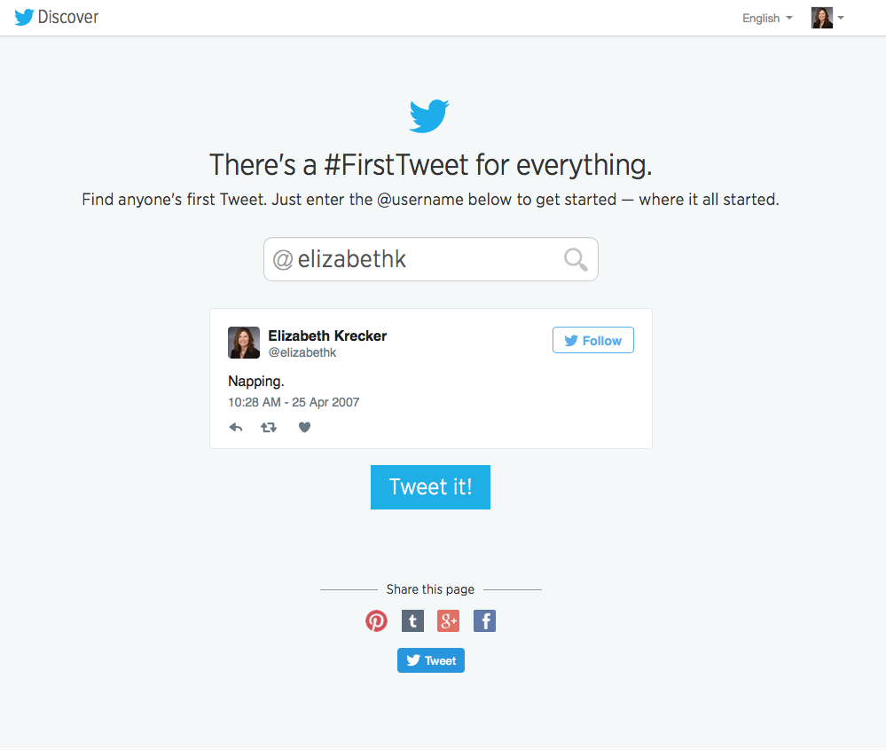 There's a #FirstTweet for Everything
